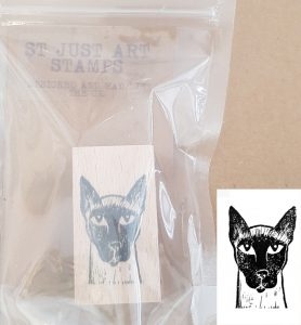 rubber stamp, stamp, rubber stamps,s tamping, linoprinting, siamese cat stamp, cat stamps, scrapbooking, collaging, jane adams