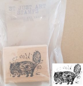 st just art stamps, art stamps, stamps, rubber stamps, stamping, printing, cat stamp, persian cat stamp. collaging, scrapbooking, lino printing, jane adams